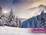 Fantastic evening winter PowerPoint Templates