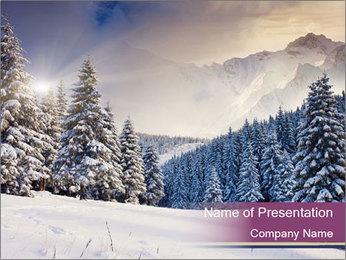 Fantastic evening winter PowerPoint Template - Slide 1