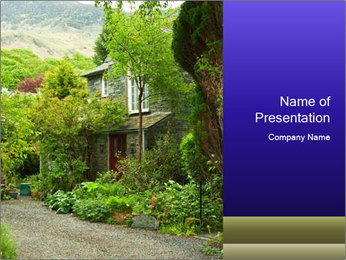 Garden at the front PowerPoint Templates - Slide 1