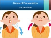 Deep breathing PowerPoint Templates