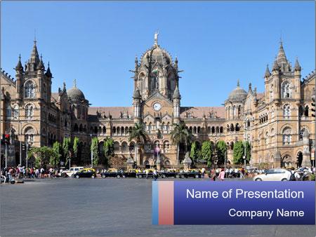 Victoria Terminus in Mumbai PowerPoint Templates