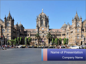 Victoria Terminus in Mumbai PowerPoint Templates - Slide 1