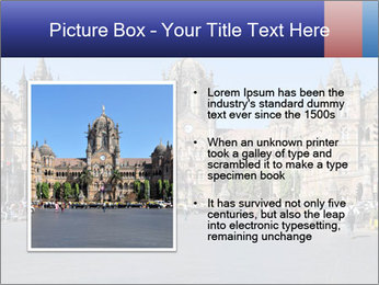 Victoria Terminus in Mumbai PowerPoint Templates - Slide 13