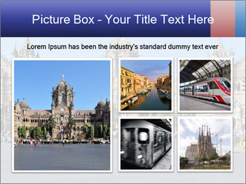Victoria Terminus in Mumbai PowerPoint Templates - Slide 19