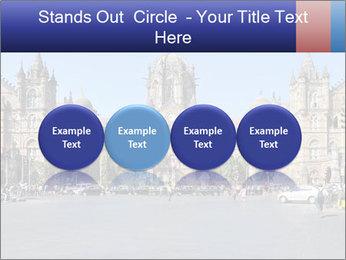 Victoria Terminus in Mumbai PowerPoint Templates - Slide 76