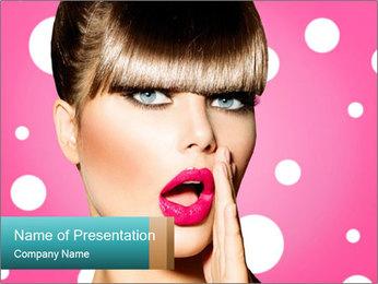 Surprised Woman PowerPoint Templates - Slide 1