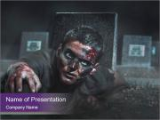 Scary zombie PowerPoint Templates