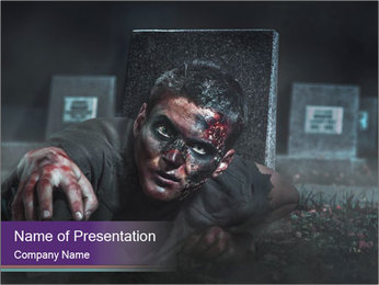 Scary zombie PowerPoint Templates - Slide 1