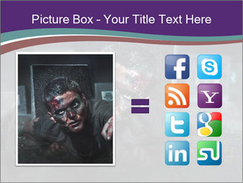 Scary zombie PowerPoint Templates - Slide 21