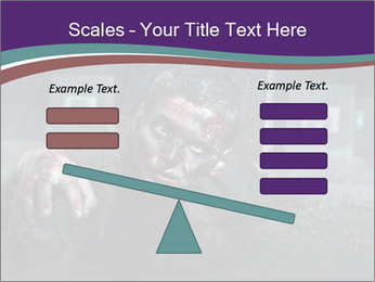 Scary zombie PowerPoint Templates - Slide 89
