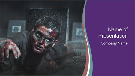 Scary Zombie PowerPoint Template