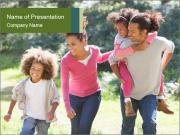 Family Walking PowerPoint Templates