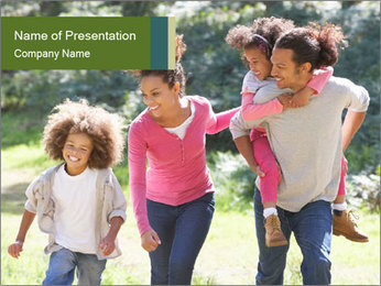 Family Walking PowerPoint Templates - Slide 1