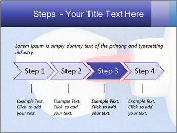 Blue craft paper PowerPoint Templates - Slide 4