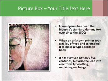 Grunge Buddha red PowerPoint Template - Slide 13