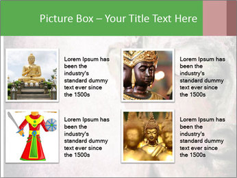 Grunge Buddha red PowerPoint Template - Slide 14