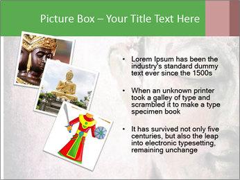 Grunge Buddha red PowerPoint Template - Slide 17
