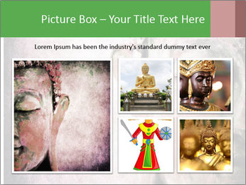 Grunge Buddha red PowerPoint Template - Slide 19