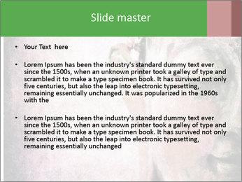 Grunge Buddha red PowerPoint Template - Slide 2