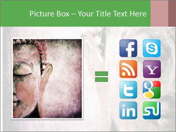 Grunge Buddha red PowerPoint Template - Slide 21