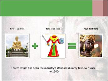 Grunge Buddha red PowerPoint Template - Slide 22