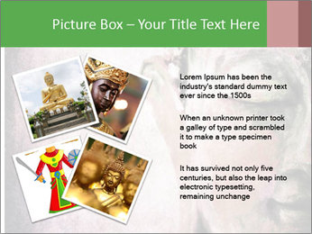 Grunge Buddha red PowerPoint Template - Slide 23