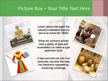 Grunge Buddha red PowerPoint Template - Slide 24