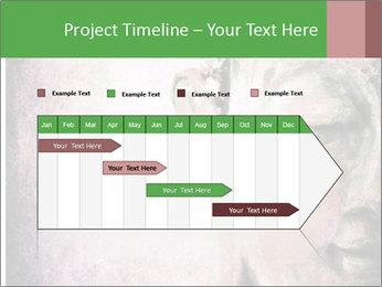 Grunge Buddha red PowerPoint Template - Slide 25