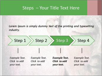 Grunge Buddha red PowerPoint Template - Slide 4