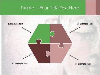 Grunge Buddha red PowerPoint Template - Slide 40