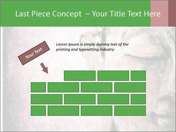 Grunge Buddha red PowerPoint Template - Slide 46