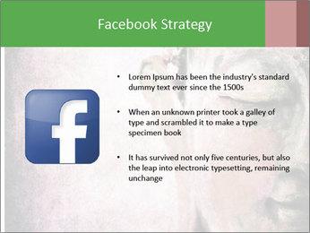 Grunge Buddha red PowerPoint Template - Slide 6