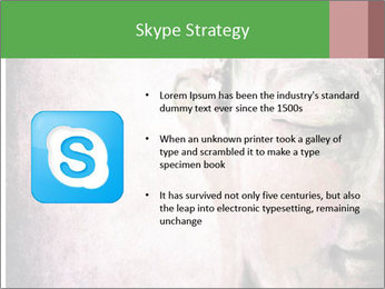 Grunge Buddha red PowerPoint Template - Slide 8