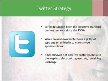 Grunge Buddha red PowerPoint Template - Slide 9