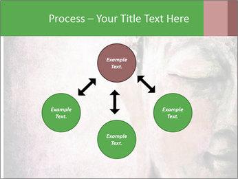 Grunge Buddha red PowerPoint Template - Slide 91