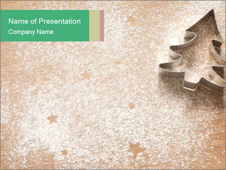 Abstract Christmas food PowerPoint Templates