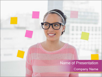 Woman in glasses PowerPoint Templates - Slide 1