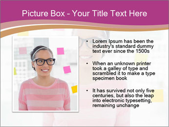 Woman in glasses PowerPoint Templates - Slide 13