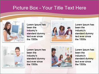Woman in glasses PowerPoint Templates - Slide 14