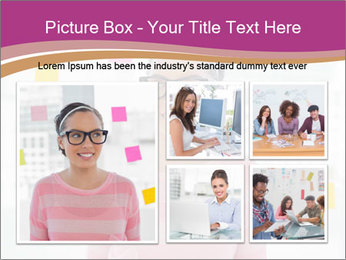 Woman in glasses PowerPoint Templates - Slide 19