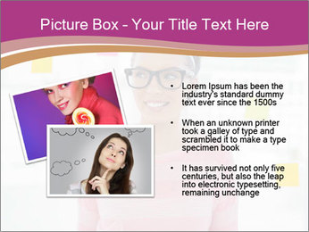 Woman in glasses PowerPoint Templates - Slide 20