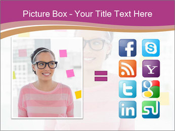 Woman in glasses PowerPoint Templates - Slide 21