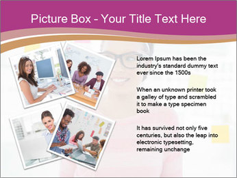 Woman in glasses PowerPoint Templates - Slide 23