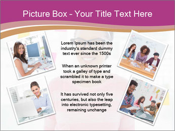 Woman in glasses PowerPoint Templates - Slide 24
