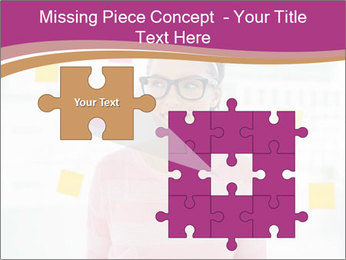 Woman in glasses PowerPoint Templates - Slide 45