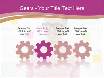 Woman in glasses PowerPoint Templates - Slide 48