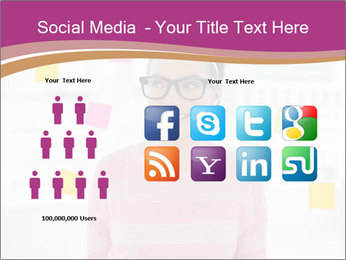 Woman in glasses PowerPoint Templates - Slide 5