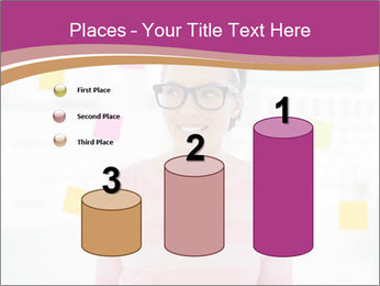 Woman in glasses PowerPoint Templates - Slide 65