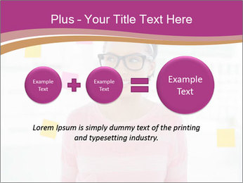 Woman in glasses PowerPoint Templates - Slide 75