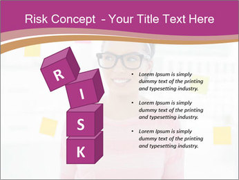 Woman in glasses PowerPoint Templates - Slide 81